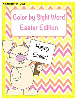 Easter Color by Sight Word