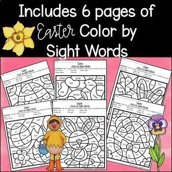 Easter Color by Sight Words