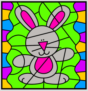 Easter - Color by Subitising numbers under 10