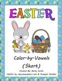 Easter Color-by-Vowels (Short), 4 Total-Short Vowel Reading Practice