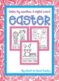 Easter Color by #s or Sight Words