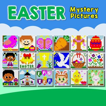 Easter Coloring (Color-by-Number) Activity