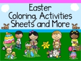 Easter Coloring Activities Sheets and More