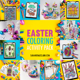 Easter Coloring Activity Pack - Printable bookmarks, gift