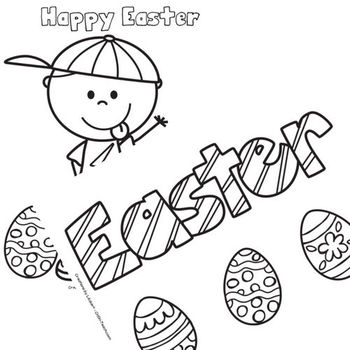 Easter Coloring BUNDLE (Bunnies, Chicks & Eggs PLUS Religious)