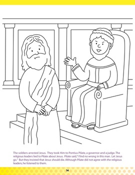 Easter Coloring Book He Is Risen