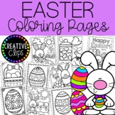 Easter Coloring Pages {Made by Creative Clips Clipart}