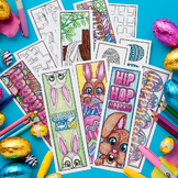 Easter Coloring Bookmarks – Set of 12 Printable Bookmarks