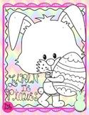 Easter Colouring Lapin de Pâques