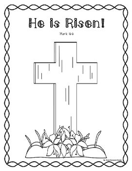 Easter Coloring Page and Bookmarks