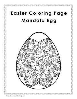 Easter Coloring Pages   34 Unique Mandala Coloring Pages + BONUS Pages