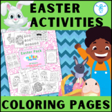 Easter Coloring Activity: Bunnies, Eggs, Lambs, Puzzles, Collages, How Many?