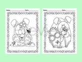 Easter Coloring Pages - 8 Designs - Black and White
