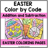 Easter Coloring Pages Addition and Subtraction Spring Colo