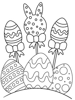 Easter Coloring Pages  Cute Easter Eggs Coloring Book - 10 Pages!