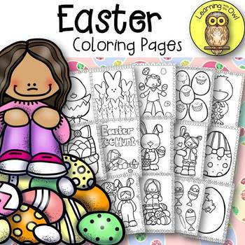 Easter Coloring Pages FREEBIE