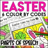 Easter Coloring Pages Parts of Speech Color by Number