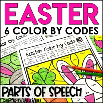 easter coloring pages parts of speech color by number by shelly rees. Black Bedroom Furniture Sets. Home Design Ideas