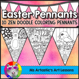 Easter Coloring Pages, Pennant Banner