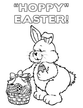 Easter & Easter Bunny Coloring Pages - Set of 6!