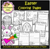 Easter Coloring Pages and Writing Prompts / Papers(School Designhcf)