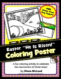 Easter Coloring Poster and BONUS Treat-Bag Topper