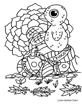 Easter Coloring Sheet: Baby Chicken