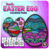 Easter Doodle Coloring Sheets