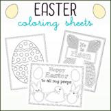 Easter Coloring Sheets - Five Unique Designs