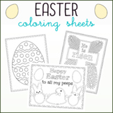 Easter Coloring Sheets - Five Unique Designs