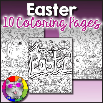 Easter Coloring Pages Zen Doodles