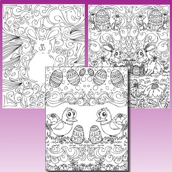 Easter Coloring Pages, Zen Doodles