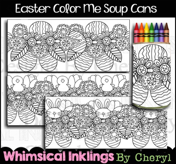 Easter Coloring Soup Can Covers