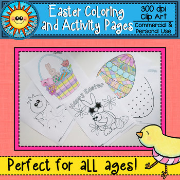 Easter Coloring and Activity Pages