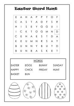 Easter Coloring in, dot to dot, word finds and Activities Grades 2,3 & 4