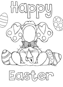 Easter Coloring page Free