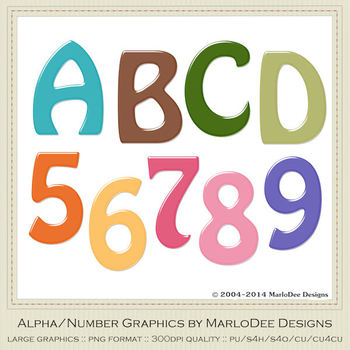 Easter Colors 2011 Candy Mix Colors Alphabet Letter & Number Graphics