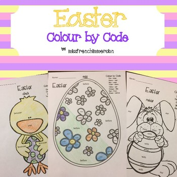 Easter - Colour by Code (Sight Words)