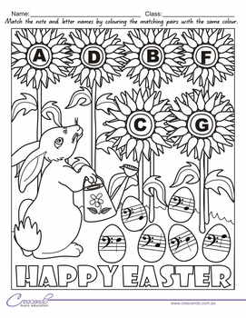 Easter Colouring Book - Colour by Note