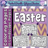 Easter Coloring Pages ~ Bible Religious Theme