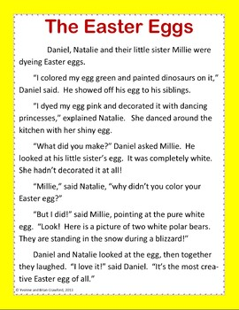 Easter Reading Passages - Stories and Activities (3rd grade Common Core)