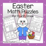 Easter Math Puzzles - 4th Grade Common Core