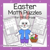 Easter Math Puzzles - 5th Grade Common Core