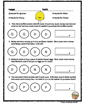 Easter Common Core Math Worksheets