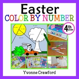 Easter Color by Number (fourth grade) Color by Multiplication, Rounding & More