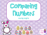 Easter Comparing Numbers Flipchart (with signs)