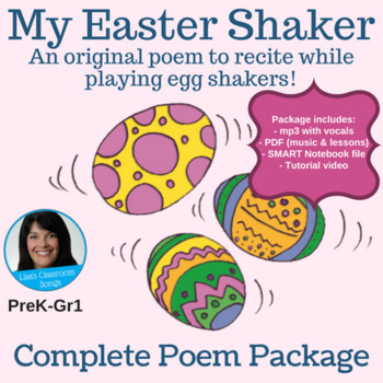 "Easter Poem  | ""My Easter Shaker"" by Lisa Gillam | Complete Poem Package"