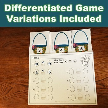 Easter Composing and Decomposing Numbers Addition Game