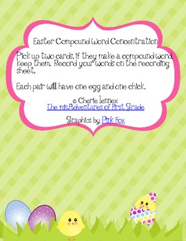 Easter Compound Word Concentration