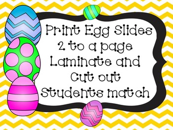 Easter Compound Word Matching Activities